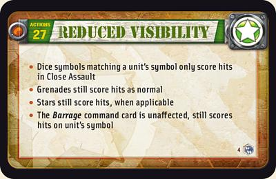 Reduced visibility