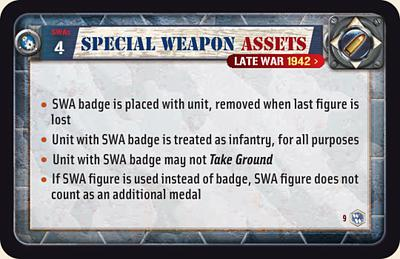 Special Weapon Assets Rules (Late War)